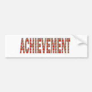 ACHIEVEMENT Success Motivation Effort Inspiration Bumper Sticker