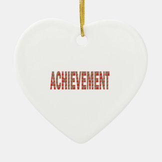 ACHIEVEMENT Success Motivation Effort Inspiration Ceramic Heart Decoration