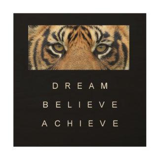 achievement success motivation inspiration wood wall art