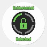 Achievement Unlocked Classic Round Sticker
