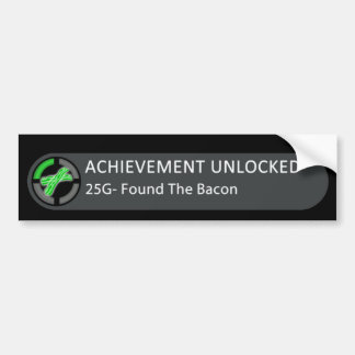 Achievement Unlocked Found Bacon Bumper Sticker