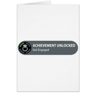 Achievement Unlocked - Got Engaged Greeting Card