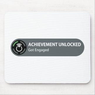 Achievement Unlocked - Got Engaged Mouse Pads