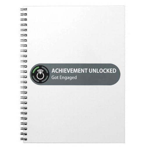 Achievement Unlocked - Got Engaged Notebooks