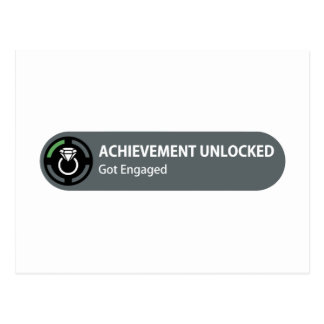 Achievement Unlocked - Got Engaged Postcards