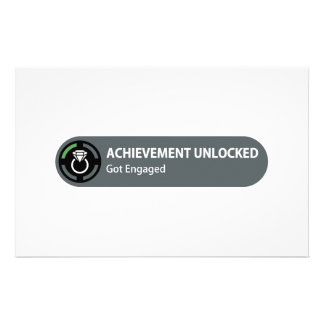 Achievement Unlocked - Got Engaged Stationery
