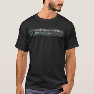 Achievement Unlocked Went To Work T-Shirt