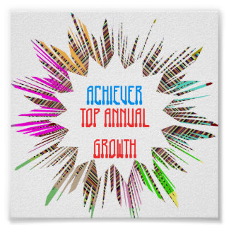 ACHIEVER :  Edit text to your own OCCASION Poster