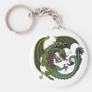 Achiko the Dragon Basic Round Button Key Ring