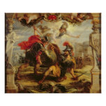 Achilles Defeating Hector, 1630-32 Print
