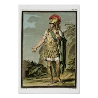 Achilles in Armour, costume for 'Iphigenia in Auli Poster