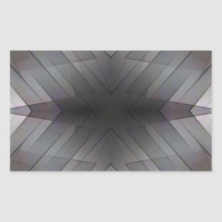 Achromatic geometric symmetric square tile rectangular sticker