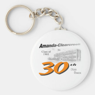 ACHS 30th class reunion logo Basic Round Button Key Ring
