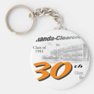 ACHS 30th class reunion logo Key Chain
