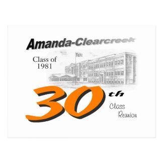 ACHS 30th class reunion logo Postcard