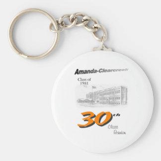ACHS 30th reunion 8.5x11 tall logo Key Chain