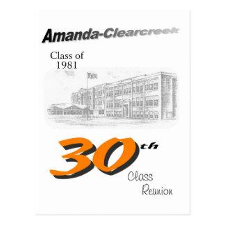 ACHS 30th reunion 8.5x11 tall logo Post Card