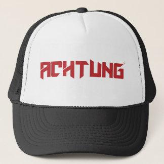 Achtung Black Crew Trucker Trucker Hat