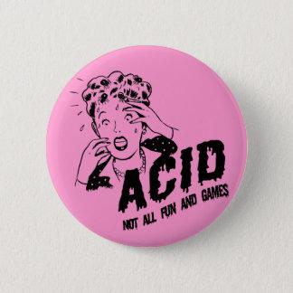 Acid 6 Cm Round Badge