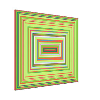 Acid Attack Decorative Colour Design Canvas Print