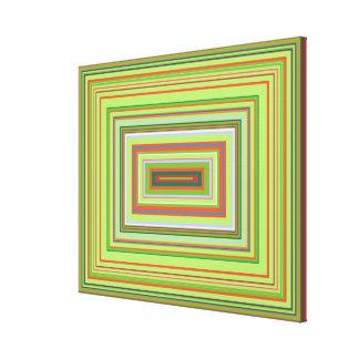 Acid Attack Decorative Colour Design, medium Canvas Print