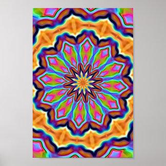 Acid Flower Poster