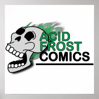 """Acid Frost Comics Skull 16""""x16"""" Poster"""