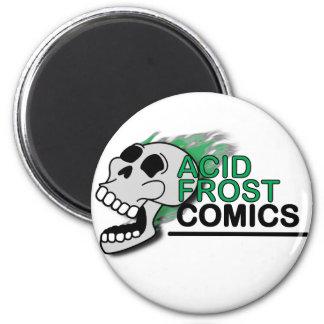 Acid Frost Comics Skull Circle/Round Magnet