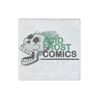 Acid Frost Comics Skull Square Stone Magnet