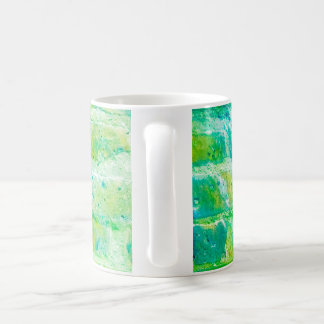 Acid green brick mug