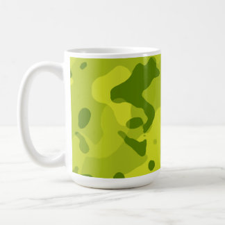 Acid Green Camo; Camouflage Mugs