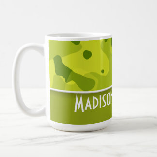 Acid Green Camo Camouflage Personalized Mugs