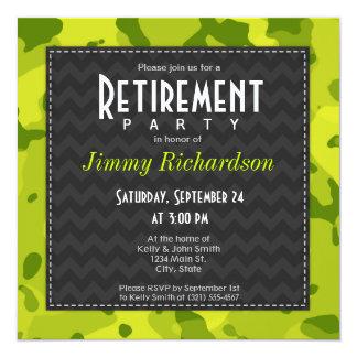 Acid Green Camo; Retirement Party Invite