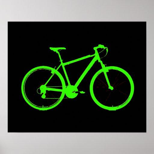 acid green fluorescent bike print