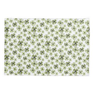 Acid Green Lucky Shamrock Clover Pillowcase