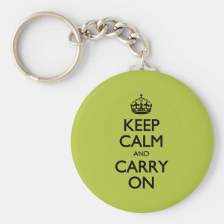 Acid Keep Calm And Carry On Key Ring