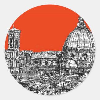 Acid orange cathedral sticker