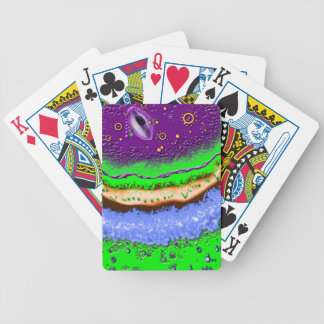 Acid Planet Bicycle Playing Cards