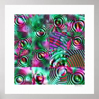 Acid Rain Grid 1 (hi-res print) Poster