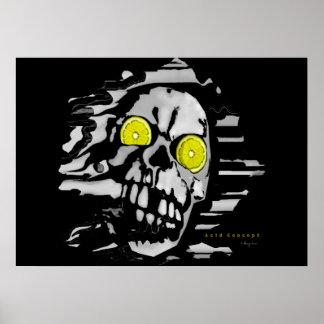 Acid Skull Poster