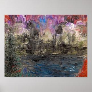 Acid washed landscape posters