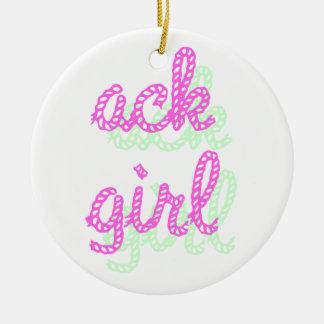Ack Girl 2 Ceramic Ornament