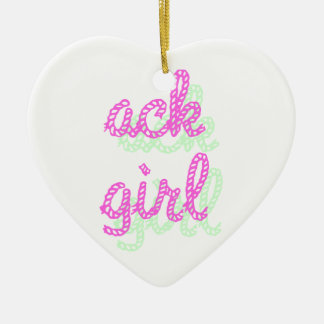 Ack Girl Ceramic Ornament