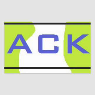 ACK RECTANGULAR STICKER