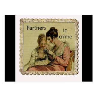 Ackermann Friendship Partners in Crime Postcards