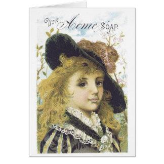 Acme Soap Blonde Girl Greeting Card