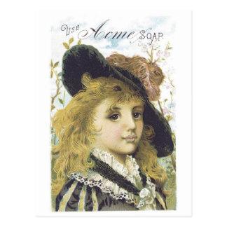 Acme Soap Blonde Girl Postcard