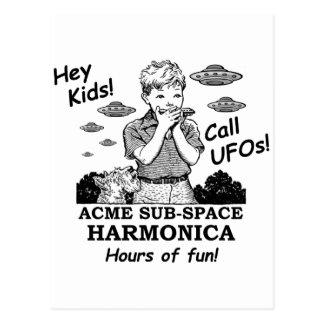 Acme Sub-Space Harmonica (Calls UFOs) Postcard