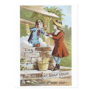 Acme The Best Bar Soap Made Postcard