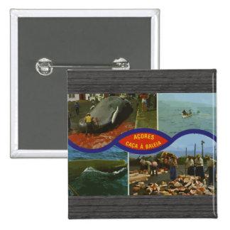 Acores Caca A Baleia Vintage Pinback Button